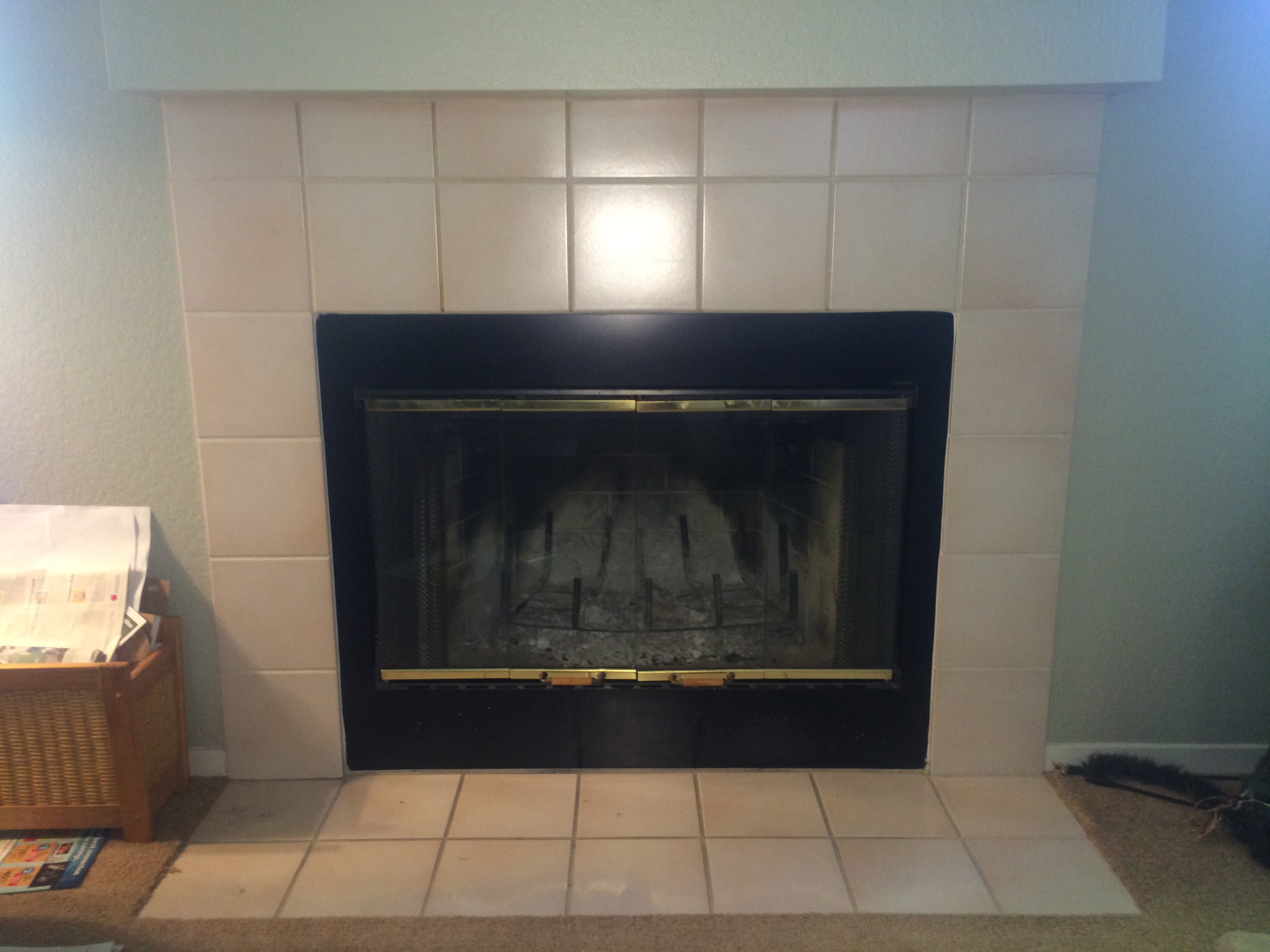 High Efficiency Fireplace Part - 19: Fireplace Replacement U2014 Inefficent Wood To High Efficiency Gas