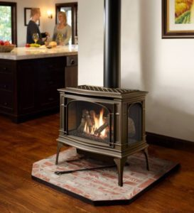 Free Standing Stove - Added to a room