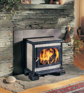Free Standing Stove - Vented into a fireplace