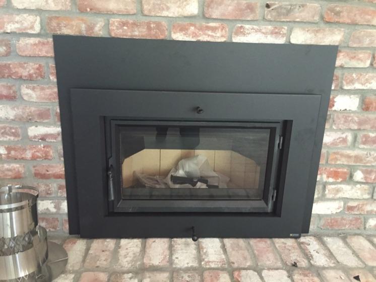 Fireplace Xtrordinair Flush Wood Insert After Picture