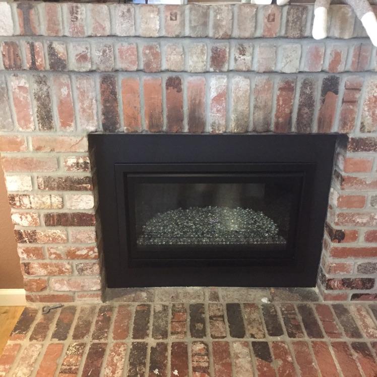 Gas Fireplace Insert With Glass Burner Custom Fireside
