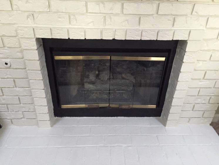 Enjoyable Gas Insert Installed In Wood Burning Fireplace Custom Fireside Download Free Architecture Designs Scobabritishbridgeorg