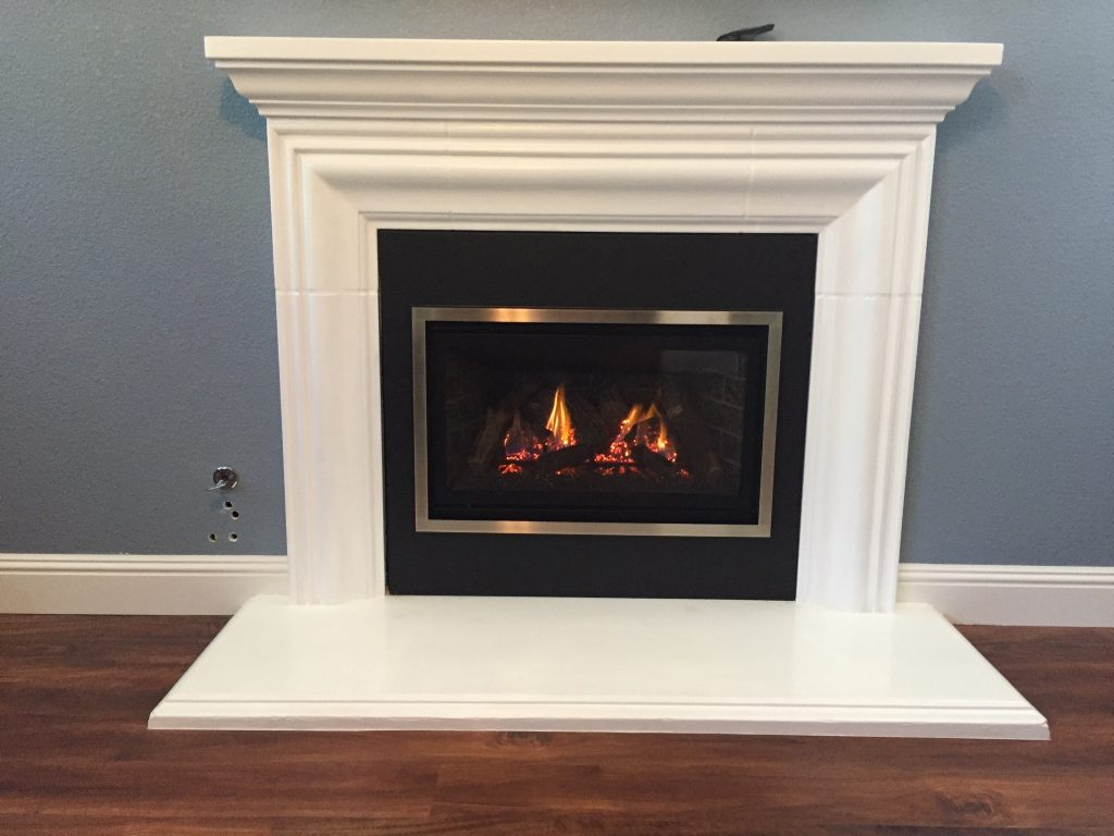 Chaska 29 Inserted Into Existing Zero Clearance Fireplace